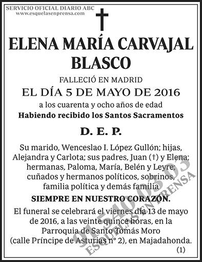 Elena María Carvajal Blasco